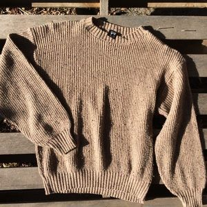 Vintage oversized thick knit sweater